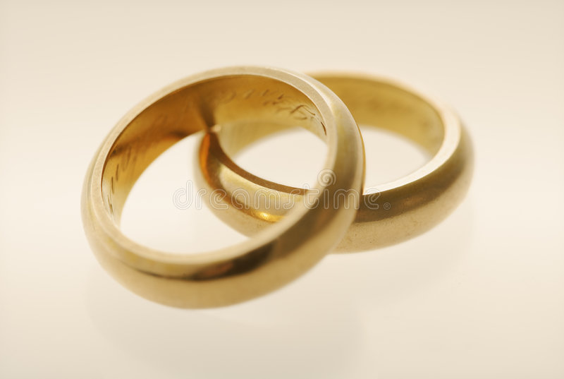 Old wedding rings stock image Image of plain weddingrings 5767601