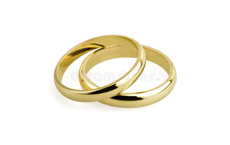 Old Wedding Rings clipping Path Stock Image Image of marriage