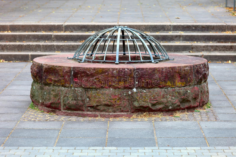 Download Old well stock image. Image of steps, wall, grill, historic - 26111593