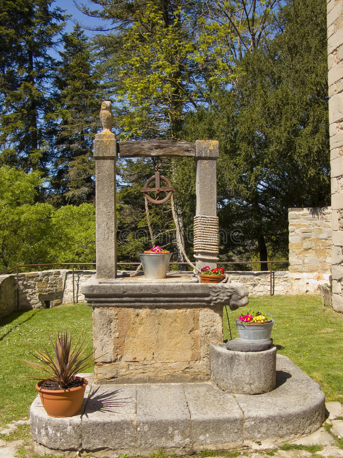 Download Old Well With Flowers In The Bucket Stock Image - Image: 11281825