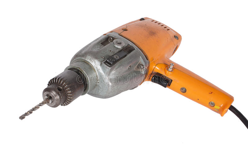 Old well used drill royalty free stock photography