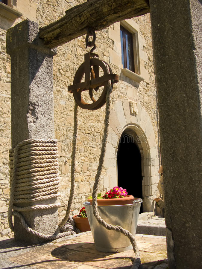 Free Old Well With Flowers In The Bucket Stock Image - 11281901
