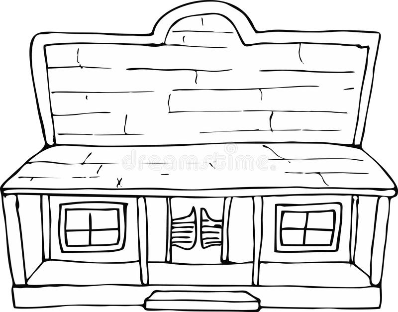 old west buildings coloring pages - photo#12