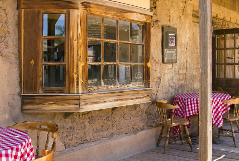 Old West Cowboy Mexican Cantina Saloon Stock Image