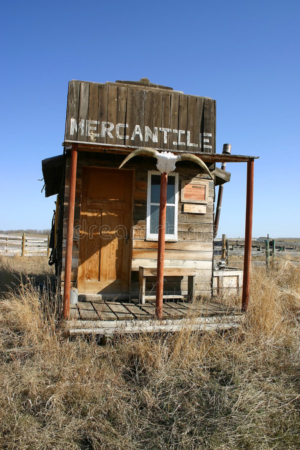 Old West Mercantile Building. An old west general store/tack shop stock photos