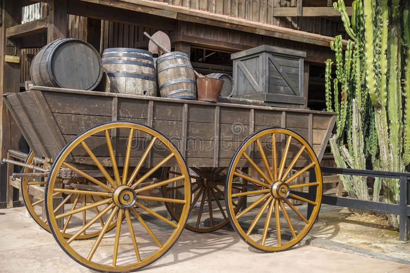 Old west, Old trail town, Cody, Wyoming stock photo