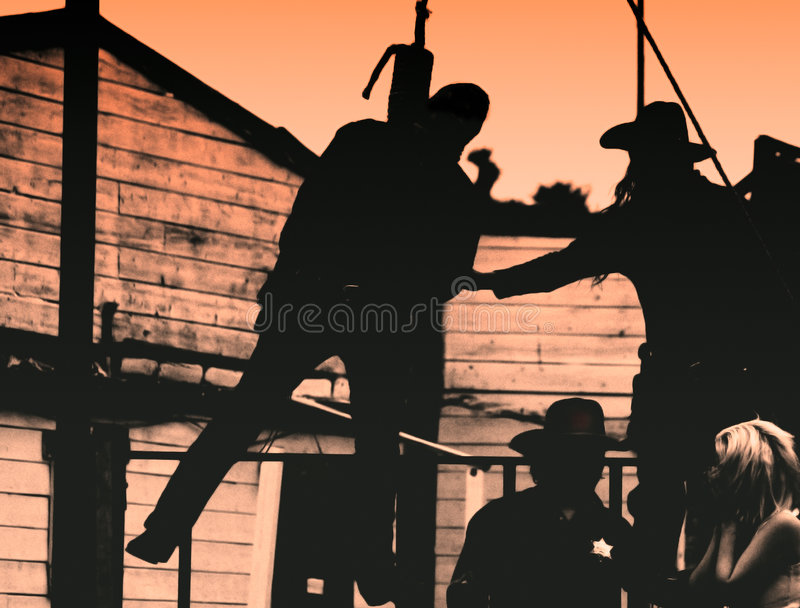 Old West-Outlaw Hangs stock photo