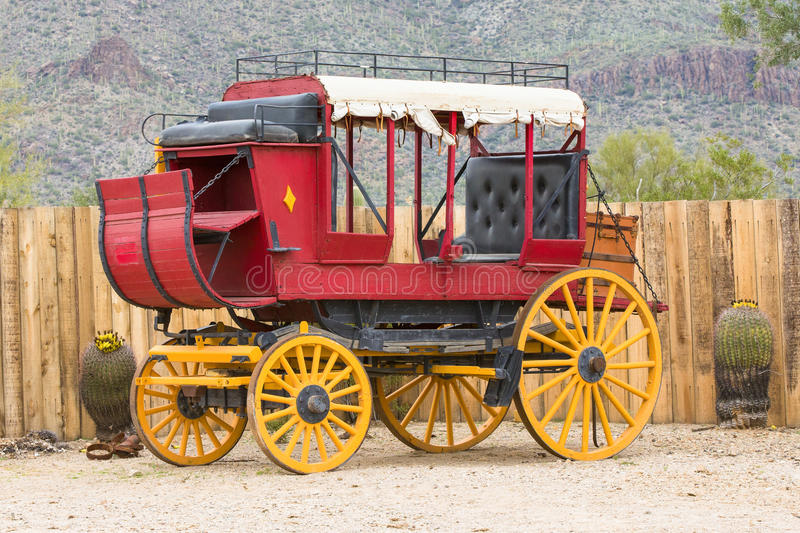 Old west Stage coach. Old western Stage coach in desert stock photography