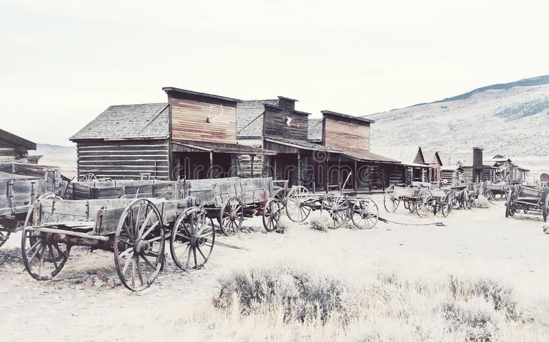 Old west, Old trail town, Cody, Wyoming, United States stock images