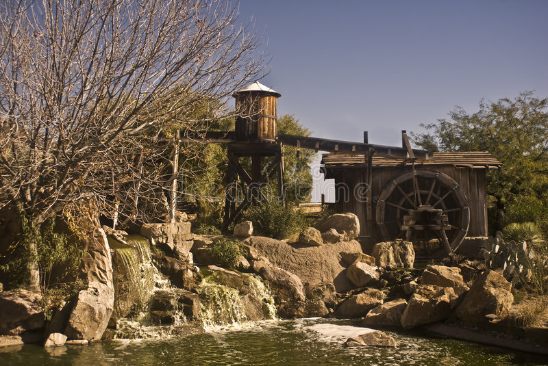 Old West Waterworks stock photo