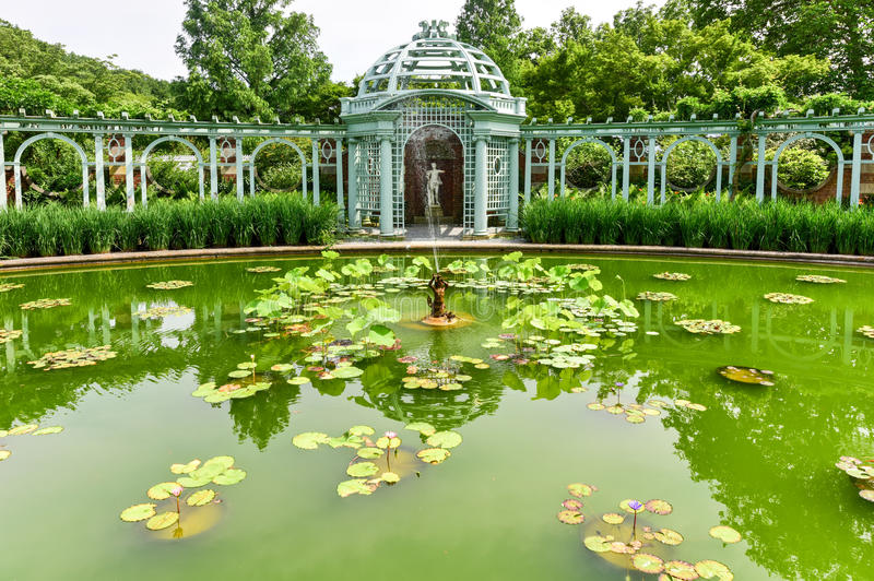 Old Westbury Gardens Mansion - Long Island. Garden at Long Island Gold Coast Mansion at Old Westbury Gardens stock images