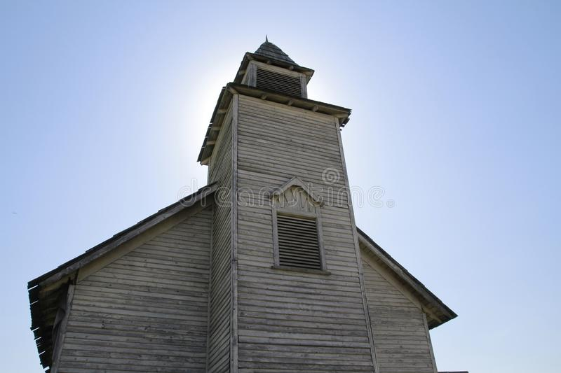 Old western countryside church royalty free stock image