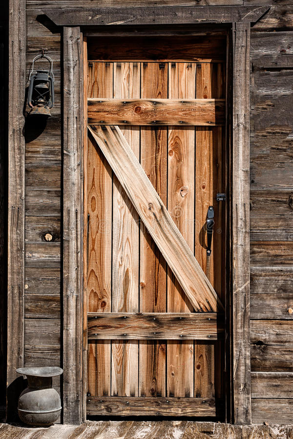 Download Old Western Door With Lantern In Front Stock Image - Image of front chewing & Old Western Door With Lantern In Front Stock Image - Image of front ...