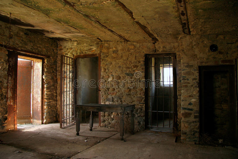 Old western prison stock images