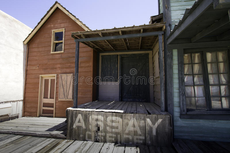 Old Western Town Movie Studio Buildings stock photography
