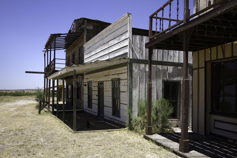 Old Western Town Movie Studio Buildings royalty free stock photos