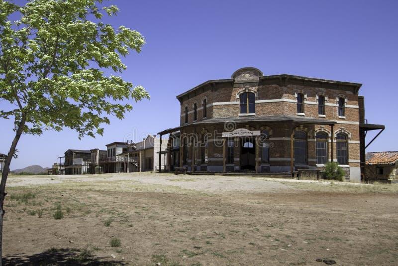 Old Western Town Movie Studio Street Saloon stock photo