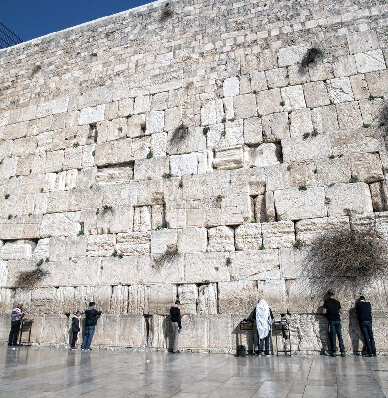 Download Old Western Wall In Jerusalem Editorial Image - Image: 40190200