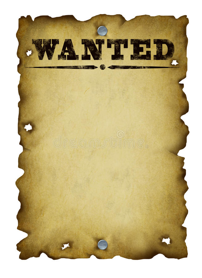 Download Old Western Wanted Poster stock illustration. Image of bullet - 23812315