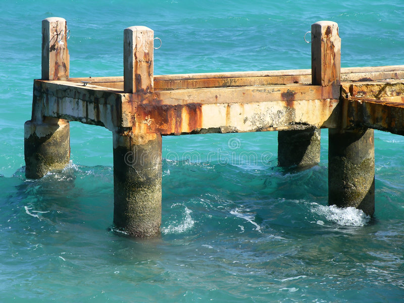 Download Old Wharf stock image. Image of rust, water, structure - 503961