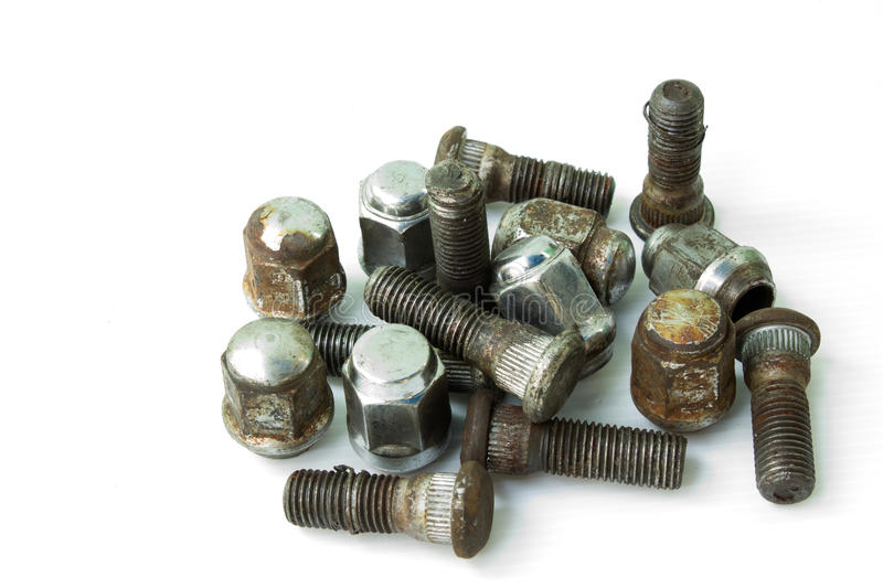 Download The Old Wheel Nut. Royalty Free Stock Photos - Image: 23595168