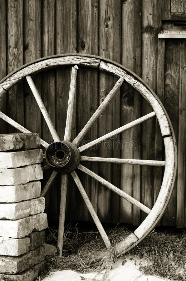 Old wheel royalty free stock photo