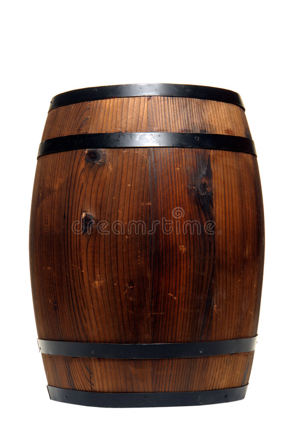 Old Whisky Barrel Or Wine Cask Wood Container Stock Photography
