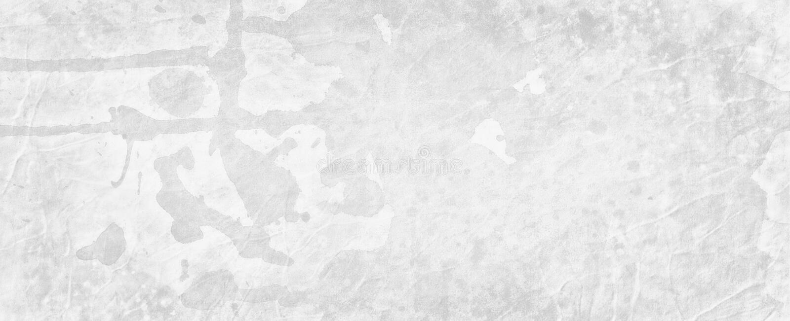 Old white background grunge with watercolor drips drops blobs and spatter and marbled stained vintage border texture. Design stock illustration