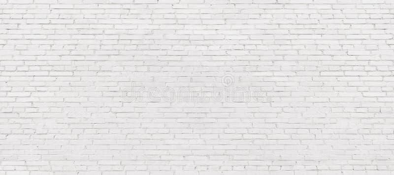 Whitewashed brick wall, light brickwork background for design. W royalty free stock photography