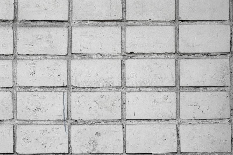 Old white brick wall. Wall cement background. Gray concrete texture. Vintage old white brick wall, great design for any purposes. Interior decoration stock photos
