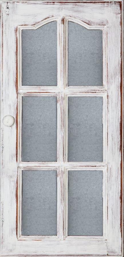 Old White door stock photo