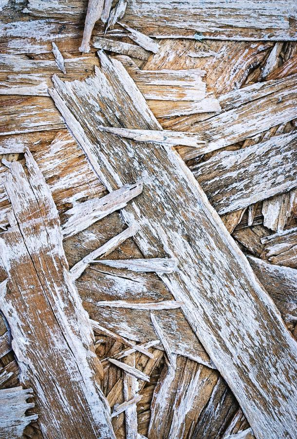 Old white painted chipboard. Abstract background or texture old white painted chipboard stock image