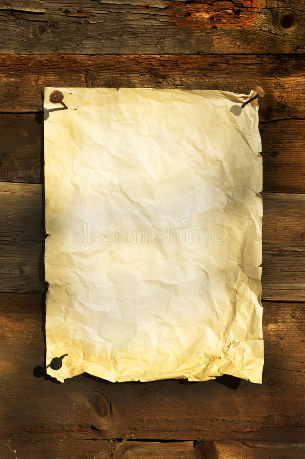 Download Old White Paper Clipped On Boards Background Stock Image - Image: 23246205