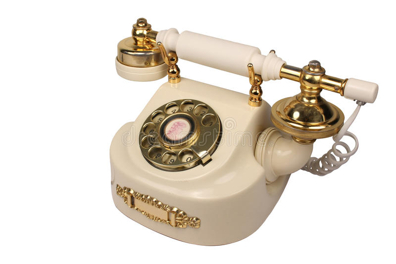 Download Old White Phone Royalty Free Stock Photography - Image: 13465527