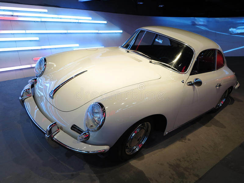 Old White Porsche Car royalty free stock photo