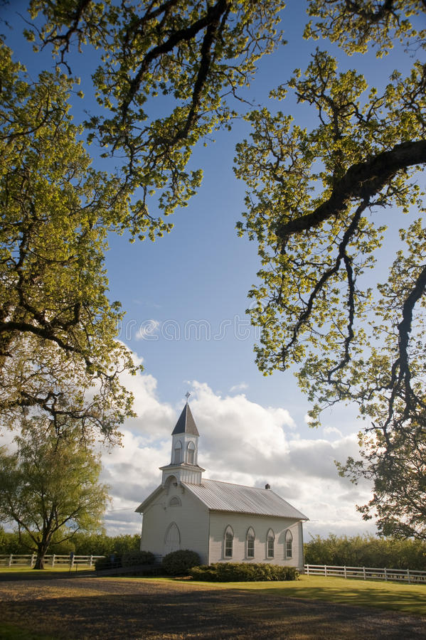Free Old White Rural Church Stock Image - 14073741
