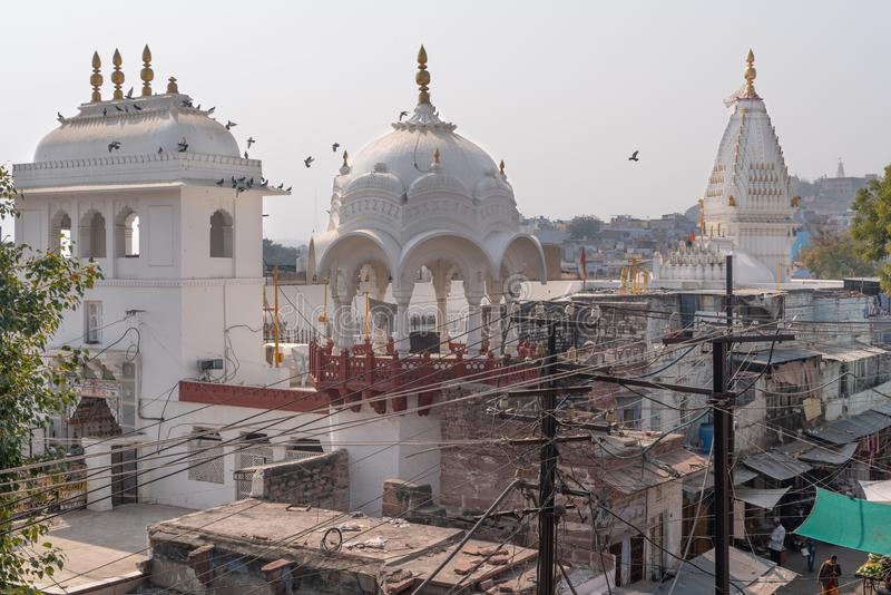 The old white temple in Jodhpur stock photos