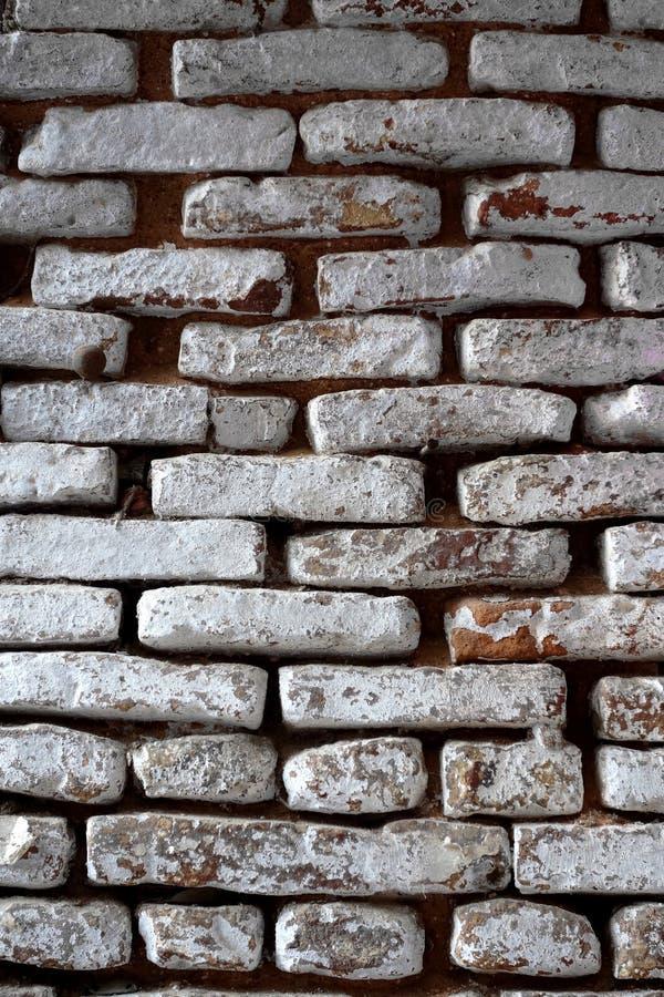 Old White Washed Bricks stock photo