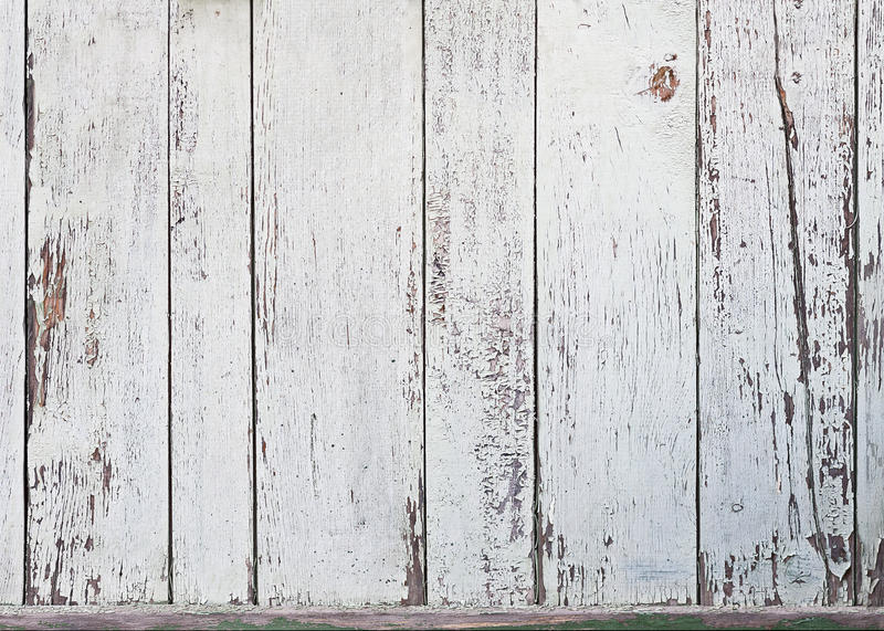 Old white wood plank background. royalty free stock image