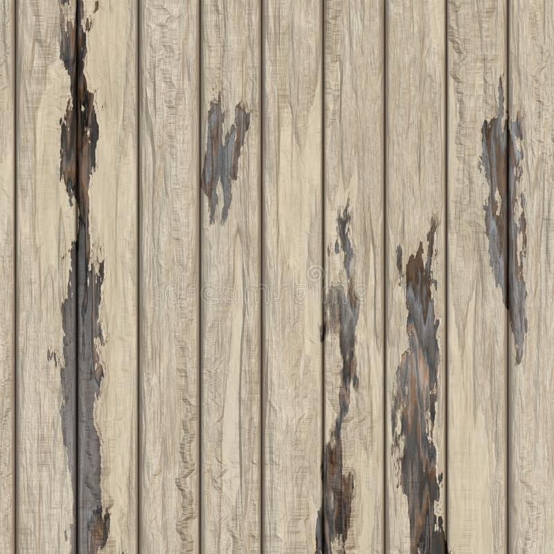 Old white wood texture background vector illustration