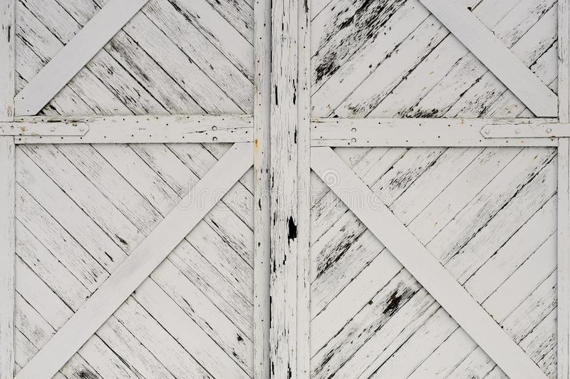Old White Wooden Doors royalty free stock image