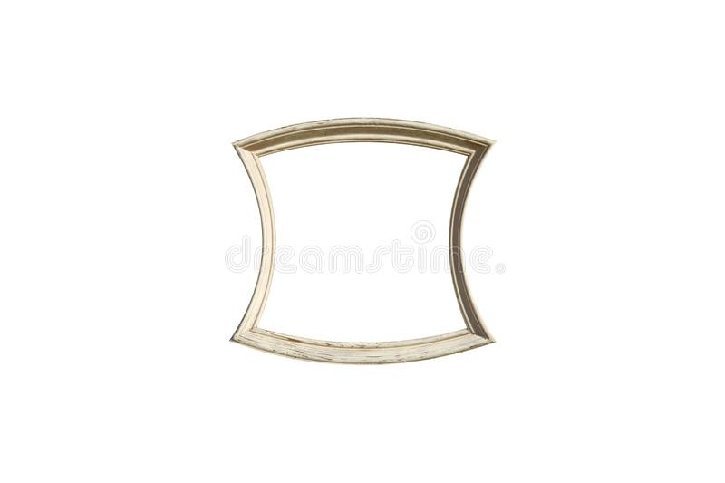 White wooden frame isolated on white background. Old white wooden frame isolated on white background royalty free stock photography