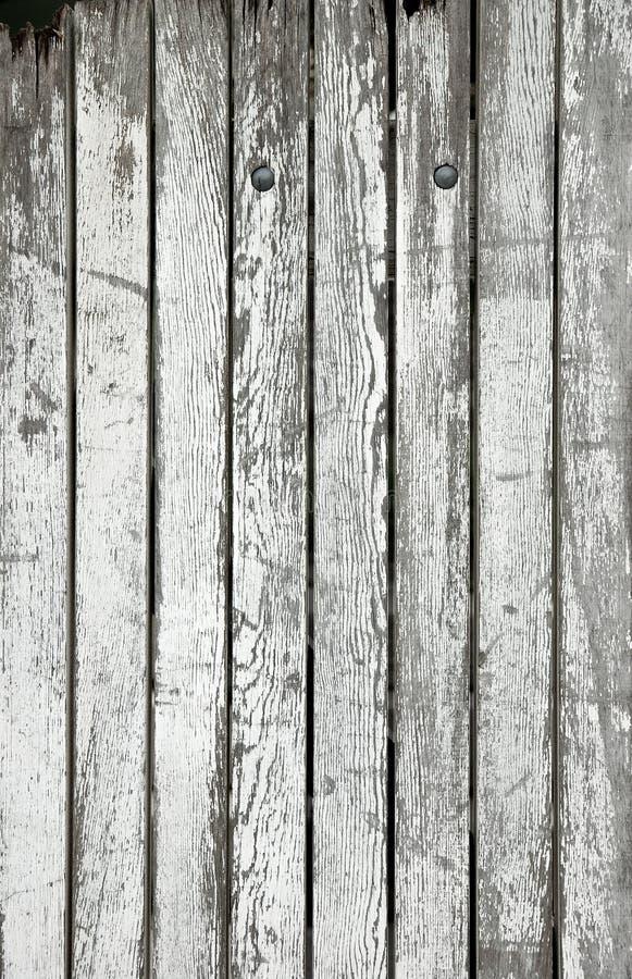 Old white wooden planks