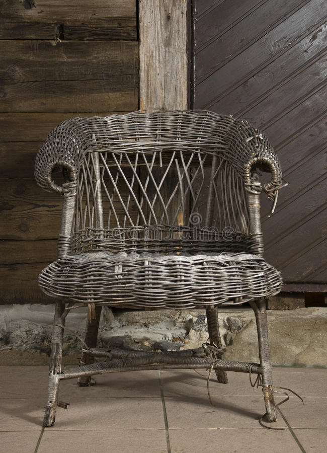 Old wicker chair1 stock image
