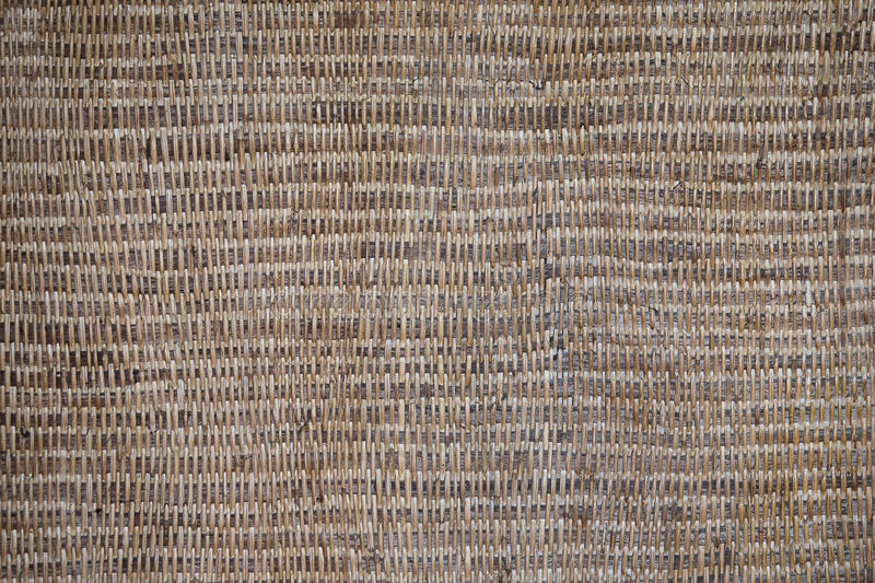 Old Wicker Texture, Weathered Brown Background Pattern stock images