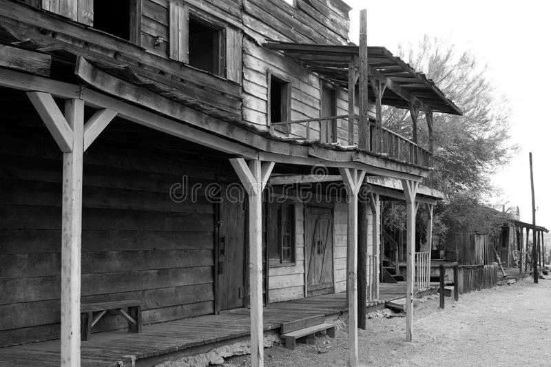 Old Wild West Cowboy Town USA. Rugged old abandoned wild west town in central Arizona, USA stock image
