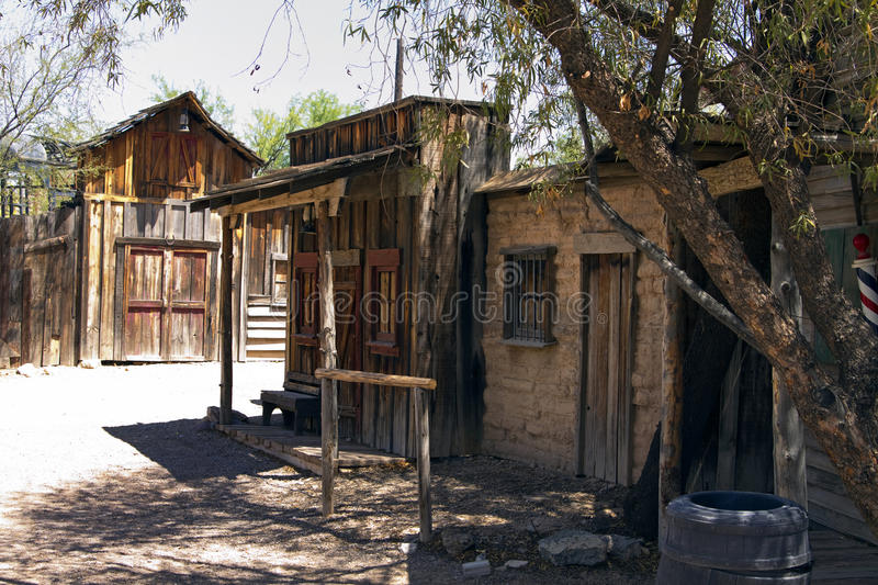 Old Wild West Cowboy Town USA. Rugged old abandoned wild west town in southern Arizona, USA stock image
