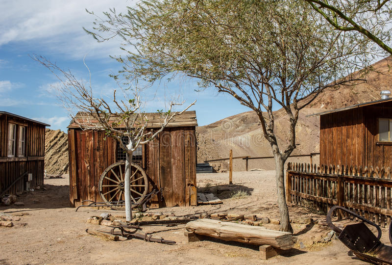 Old wild west detail. Detail of an old wild west abandoned town royalty free stock photo