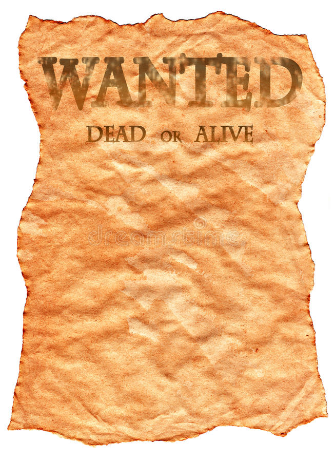 Download Old Wild West Wanted Poster Stock Illustration - Illustration of paper, document: 10555682