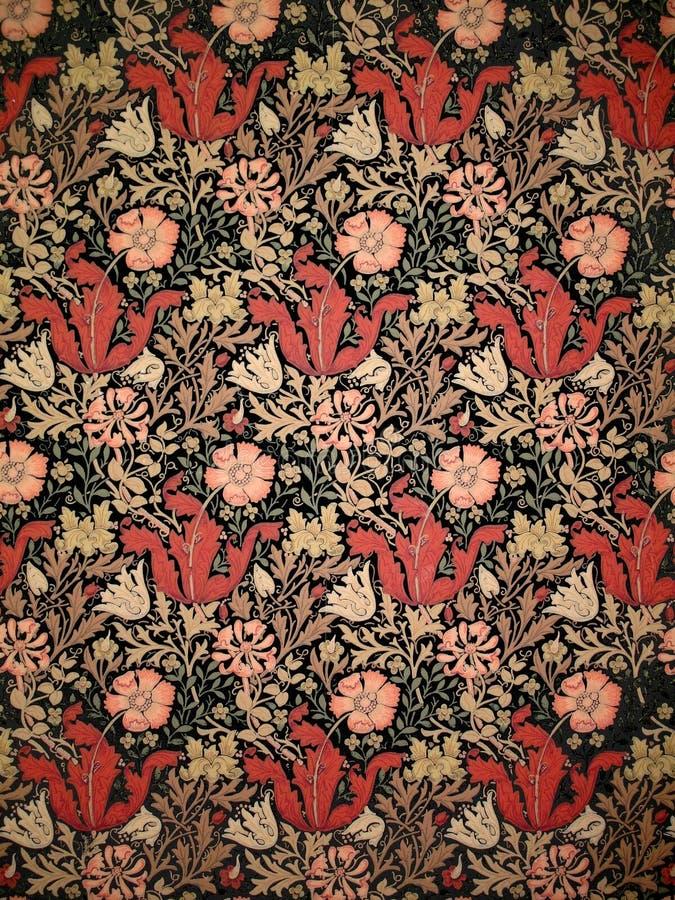 Download Old William Morris Wallpaper Stock Image
